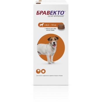 Бравекто (Intervet) жевательная таблетка для собак 4,5-10кг 250мг