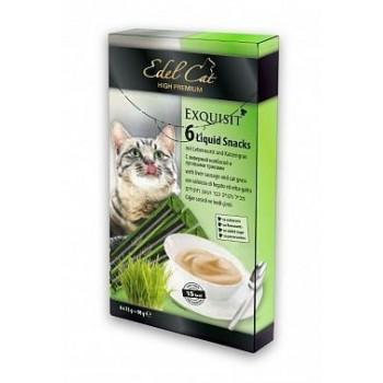 Edel Cat / Эдель Кэт лакомство для кошек крем суп ливерная колбаса и травы  6 шт