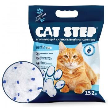 Cat Step / Кэт Степ Наполнитель впитывающий силикагелевый Arctic Blue, 15,2 л
