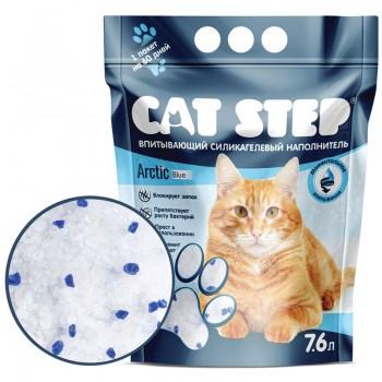 Cat Step / Кэт Степ Наполнитель впитывающий силикагелевый Arctic Blue, 7,6 л