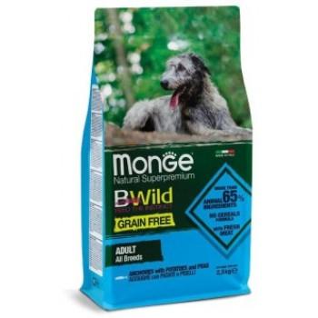 Monge / Монж Dog GRAIN FREE беззерновой корм для собак всех пород анчоусы c картофелем и горохом 2,5 кг