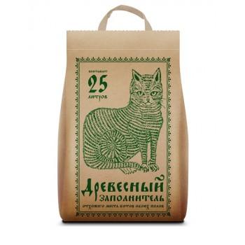 """No Name наполнитель комкующийся для туалета кошек """"No Name древесный"""", 25 л"""