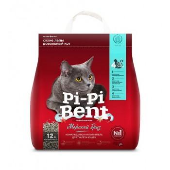 """Pi-Pi Bent / Пи-Пи Бент наполнитель комкующийся для туалета кошек  """"Морской бриз"""", 12 л"""