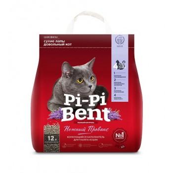"""Pi-Pi Bent / Пи-Пи Бент наполнитель комкующийся для туалета кошек """"Нежный Прованс"""", 12 л"""