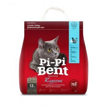 """Pi-Pi Bent / Пи-Пи Бент наполнитель комкующийся для туалета кошек  """"Классик"""", 12 л"""