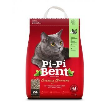 """Pi-Pi Bent / Пи-Пи Бент наполнитель комкующийся для туалета кошек  """"Pi-Pi-Bent Сенсация свежести"""", 24 л"""