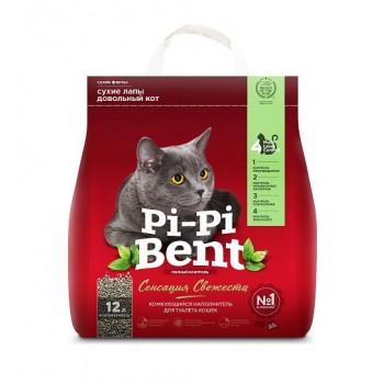 """Pi-Pi Bent / Пи-Пи Бент наполнитель комкующийся для туалета кошек  """"Pi-Pi-Bent Сенсация свежести"""", 12 л"""