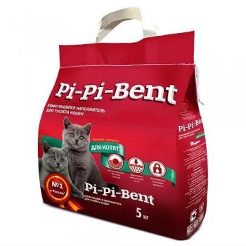 """Pi-Pi Bent / Пи-Пи Бент наполнитель комкующийся для туалета кошек """"Для котят"""", 12 л"""