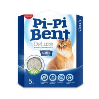 Pi-Pi Bent / Пи-Пи Бент наполнитель комкующийся для туалета кошек DeLuxe Classic, 5 кг
