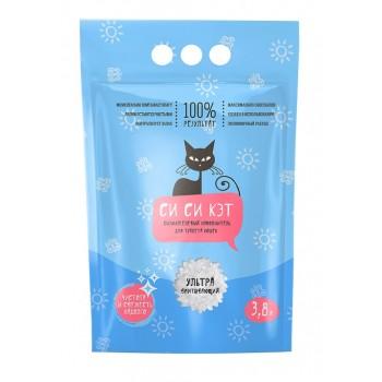 СиСиКэт наполнитель впитывающий для туалета кошек силикагелевый, 3,8 л