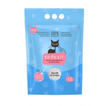 СиСиКэт наполнитель впитывающий для туалета кошек силикагелевый, 7,6 л