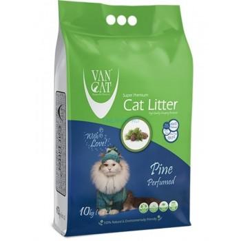 Van Cat Комкующийся Наполнитель без пыли с ароматом Соснового леса, пакет (Pine) 5 кг